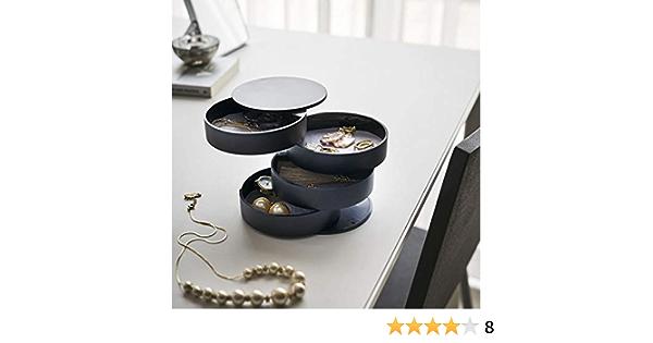 Zur Aufbewahrung und Dekoration Kosmetikt/ücher Box Kristall Metall Golden