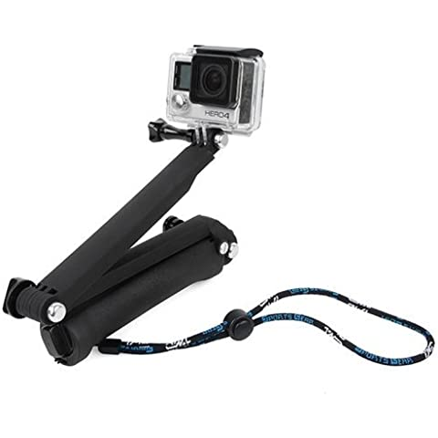 GOPRO 3 Way - soporte multi-propósito (mango / brazo / trípode) (Negro)/ GO Pro selfi stick,3 way monopod for all type of GOPro