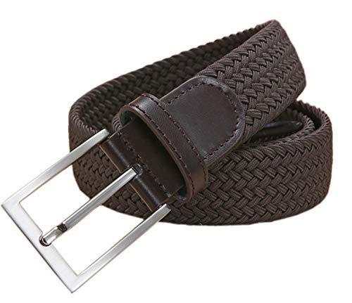 Ground Mind Herren GewebteGürtel elastischer Stoff Stretch Gürtel