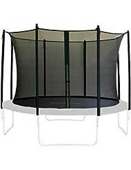 SixBros. Filet de sécurité de rechange noir pour trampoline de jardin 1,85 M - 4,60 M - dimensions différentes - SN-IN/1961 - Taille 1,85 m 3L