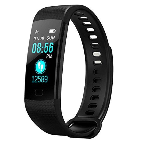 Pictury Y5 Farbbildschirm IP67 Wasserdichte Smart Armband Herzfrequenz Blutdruck Blutsauerstoffsättigung Monitor Schrittzähler Fitness Armband - Lcd Dusche Uhr