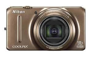 """Nikon Coolpix S9200 Appareil photo numérique compact 16 Mpix Ecran 3"""" Zoom optique 18x Marron"""