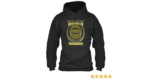 198cf14fc408 teespring Lord-TACHANKA-T-Shirt Sweatshirt - M - Jet Black - Standard  College Hoodie  Amazon.co.uk  Clothing