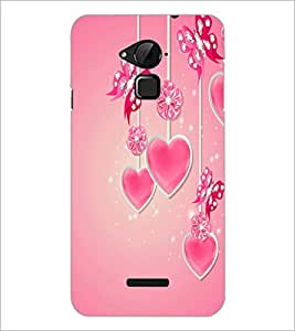 PrintDhaba Heart D-2105 Back Case Cover for COOLPAD NOTE 3 LITE (Multi-Coloured)