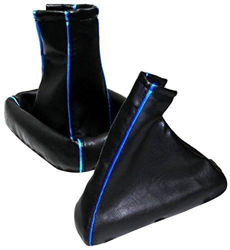 AERZETIX 40DG0017R00172 Handbremsmanschette Kunstleder Schwarz Blau