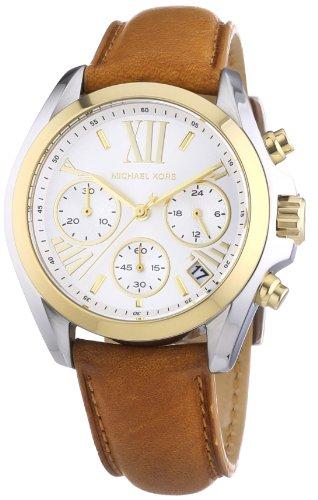 Michael Kors Damen-Armbanduhr Chronograph Quarz Leder MK2301