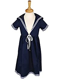 Matrosenkleid in blau für Kinder, klassischer Stil von Modas alle Größen