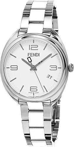 Fendi Women's Momento 34mm Multicolor Steel Bracelet & Case Swiss Quartz White Dial Watch F211034004