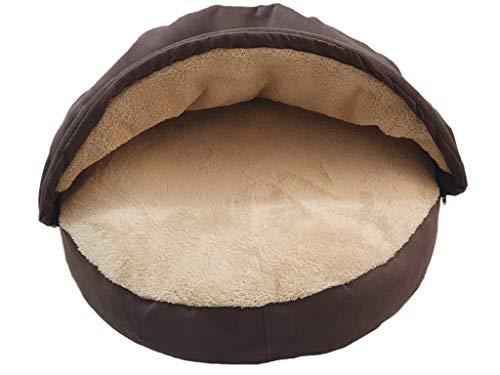 GK XXL Hundebett Höhlenbett für Hunde Hundesofa mit Kaputze Höhle Kuschelhöhle Durchmesser 100 cm