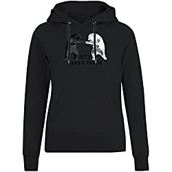 Let's Make A Panda Jacket with Hoodie For Women - 100% Soft Cotton - High Quality DTG Printing - Custom Printed Womens Clothing X-Large