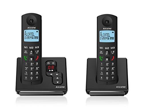 Alcatel F690Voice Schnurlostelefon (DECT-Telefon, Terminal, 100Eintragungen, Schwarz)