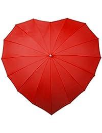 Forma de corazón paraguas Rojo con UV Protección solar