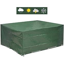 Funda protectora para mesas de jardín redondas, con cinta ajustable, 250 x 210 x 90 cm …