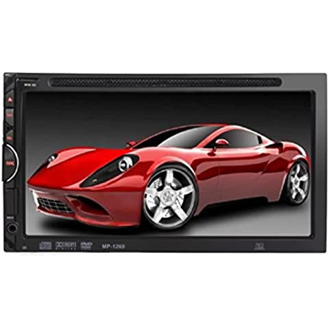Tongshi 7 HD 2 DIN coche Bluetooth Touch Screen de CD Reproductor de DVD estéreo MP3 AUX FM USB SD