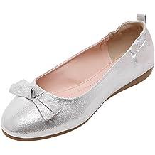 Baymate Mujer Bailarinas Comodidad Plegable Zapatos Zapatillas Slip On Piso Bowknot Decoración