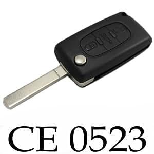 COQUE CLE PLIP TELECOMMANDE PEUGEOT 407 3 BOUTONS