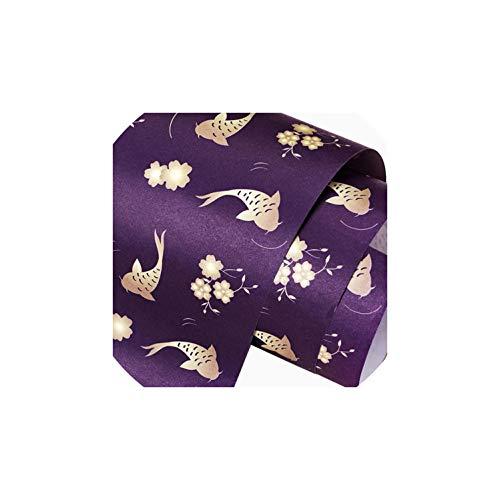 50x70cm Geschenkpapier-Rolle für Hochzeit, Kinder Geburtstag, Feiertag, Babyparty-Geschenk-Verpackungs-Handwerks-Papier-Dekor-Geschenke, Lila -