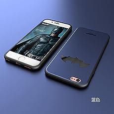 BANSKEY Batman ; Ironman & Superman trasparente in poliuretano termoplastico per iPhone-Cover per Apple iPhone 5, 5S, 5C, 6/6S , 6+,7 (iphone 6/6s, Blue)