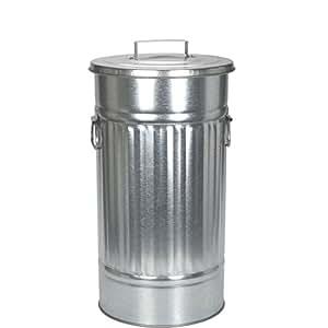 BUTLERS Zink Mülltonne 'Oskar' - Behälter für Abfall, Wäsche, Spielzeug - 46l -