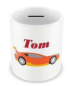 Personnalisé 10 Tirelire en forme de voiture de course F1 téléguidée de rallye chri.. Idée cadeau pour anniversaire d'enfant.