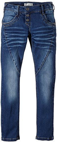 NAME IT Mädchen Jeanshose Dnm Reg/xsl Pant Noos S, Gr. 128, Blau (Medium Blue Denim)