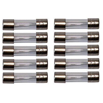 Aerzetix: Satz von 10 Glassicherungen Glasrohr Sicherungen Sicherung Glas 2cm 5x20mm 220V 250V 1.6A Verzögert Langsam -