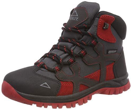 McKINLEY Unisex Kinder Trekkingstiefel Santiago Pro AQX Trekking-& Wanderstiefel, Grau (Anthracite/Red Dark 000), 35 EU
