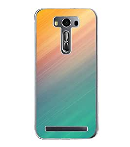 Colourful Lines Pattern 2D Hard Polycarbonate Designer Back Case Cover for Asus Zenfone 2 Laser ZE550KL (5.5 INCHES)