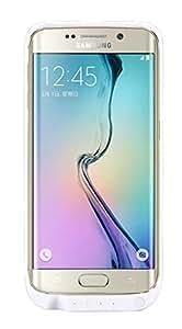 Vanda® Coque avec batterie et portable externe chargeur batterie de secours rechargeable pour Samsung Galaxy S6 Edge G9250 ultra fin d'une capacité de 3200 mAh Blanc