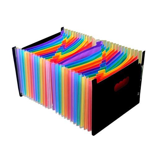 LouiseEvel215 Lustige Orgel Design PVC Ordner Datei Tasche Dokument halten Taschen Lagerung Clip Ordner Einreichung Papier Lagerung Büro Schulbedarf (Tasche-datei-ordner)
