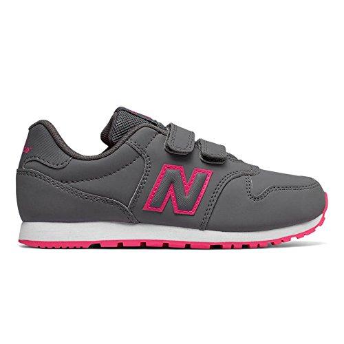 NEW BALANCE -Zapatilla deportiva 500 preschool gris, de tejido sintético y microfibra, Niña, Niñas-34,5