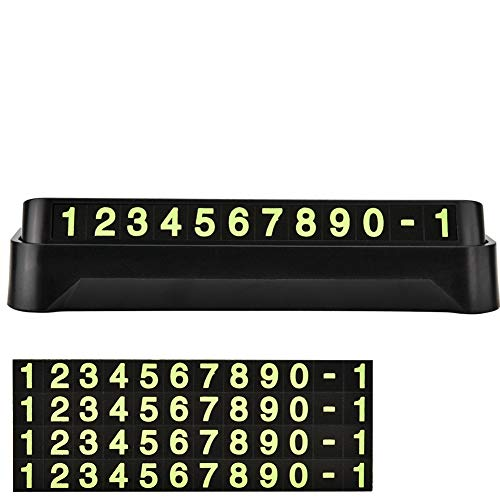 Sonew Temporäres Autoparkzeichen Leuchtend Digital Anzeigetafel Telefonnummer anzeigen Vorübergehendes Auto-Stoppschild