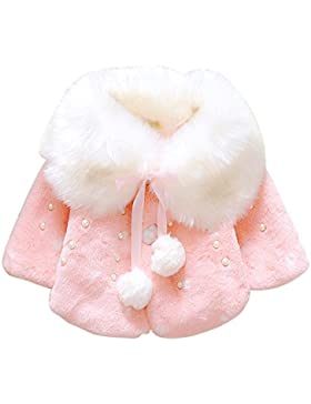 Brightup Baby Mädchen Faux Pelz Warm Winter Cape Cloak Mantel Outwear