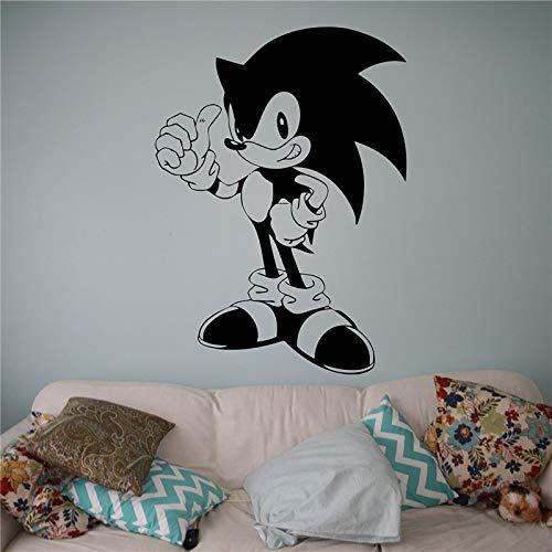 mmzki Sonic Vinyl Aufkleber Sonic Hedgehog Wand Vinyl Aufkleber Videospiel Cartoons Home Interior Kinder Kinderzimmer Dekor 58 * 80 cm