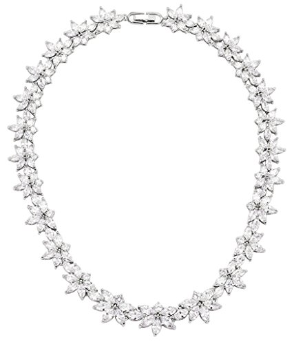 Gnzoe Placcato argento Donna Cluster Flower Leaf