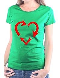 Mister Merchandise Femme Chemise T-Shirt Love Recycling