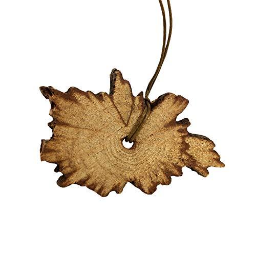 anto Holz - Anhänger ideal für Aromatherapie - Das entspannende Palo Santo Aroma schenkt Harmonie und positive Energie - Handgemachtes Schmuckstück ()