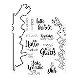 REMO-Y 1 Set da Taglio Muore + sigilli in Silicone Giraffa Animale Festa Fai da Te Scrapbooking goffratura Album Fotografico Carta di Carta Decorativa mestiere Arte Regalo Fatto a Mano