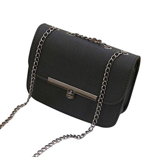Adatti a donne catena in pelle borsetta (nero)