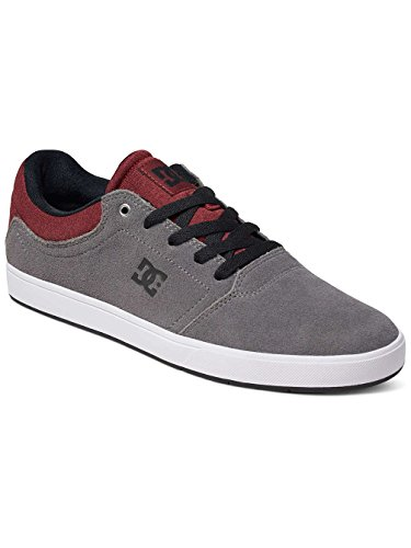 DC Shoes Crisis, Baskets mode homme Gris - Grey/Grey/Red