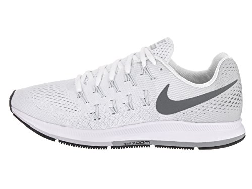 Nike Herren Air Zoom Pegasus 33 Laufschuhe Blanco (White / Cool Grey-Pure Platinum-Black)