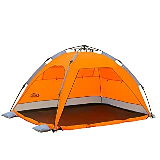 Qeedo - Quick Palm Beach Shelter with UPF 50+ Sun Protection - orange (B00IMYL3ZM) | Amazon price tracker / tracking, Amazon price history charts, Amazon price watches, Amazon price drop alerts
