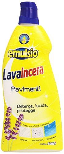 Emulsio - lavaincera, deterge, lucida, protegge pavimenti, con profumo di lavanda - 12 pezzi da 900 ml [10800 ml]