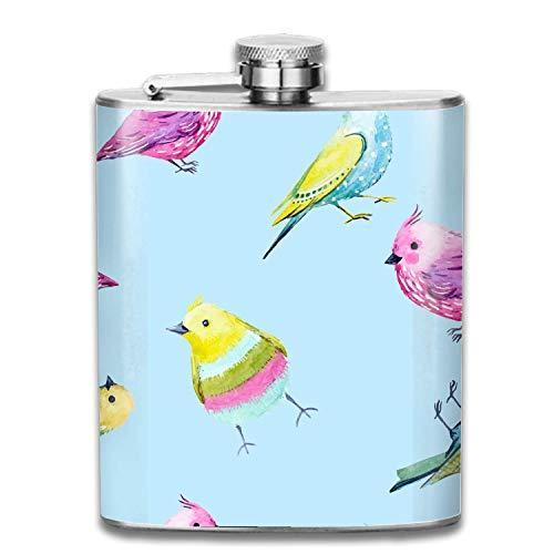 Boccetta incisa in acciaio inox vaso di vino san valentino sfondo artistico pallone tascabile per la conservazione di liquore di whisky, 7 oz