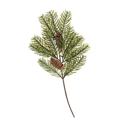 """Künstlicher Tannenzweig """"Nordmann"""" mit Zapfen, 50 cm - Deko Zweig Weihnachten / Kunst Zweig Herbst - artplants"""