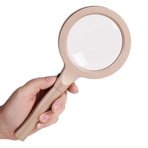 Handheld LED Doppel-Objektiv Lupe Alte Mann Lesen High-Definition-Geschenk Lupe All-Metall