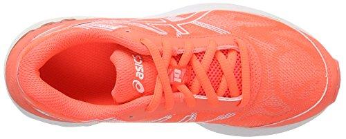 Asics Gel-Nimbus 19 Gs, Scarpe da Ginnastica Unisex-Bambini Arancione (Flash Coral/White/Flash Coral)