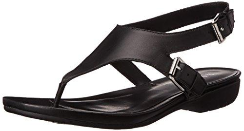 Lauren Ralph Lauren Kasia Femmes Cuir Tongs Black