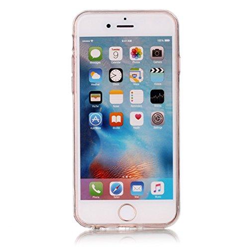 iPhone 6 Hülle, iPhone 6s Hülle, E-Lush Beliebte Weiß Löwenzahn Muster für Apple iPhone 6 6S (4.7 zoll) Telefonkasten TPU Silikon Rand Acryl Rückseite Abdeckung Handyhülle Clear Transparent Schutzhüll Schöne Mädchen