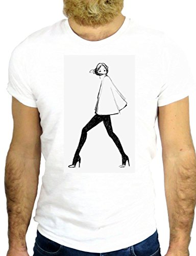 T SHIRT Z1679 PIN UP SEXY GIRL SEX LADY NICE COOL ROCK CARTOON VINTAGE USA UK NY GGG24 BIANCA - WHITE